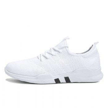 New Spring Breathable Athletic Shoes For Men - WHITE 43
