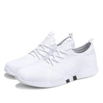 New Spring Breathable Athletic Shoes For Men - WHITE WHITE