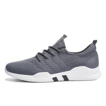 New Spring Breathable Athletic Shoes For Men - GRAY 43