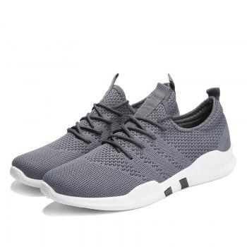 New Spring Breathable Athletic Shoes For Men - GRAY 42