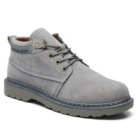 Classical Low Top Lace-up Boots for Men - GRAY 41