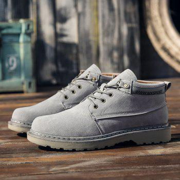 Classical Low Top Lace-up Boots for Men - GRAY 42