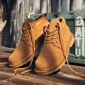 Classical Low Top Lace-up Boots for Men - YELLOW 41