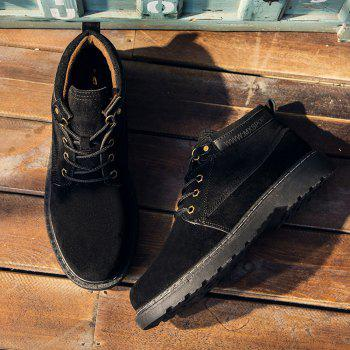 Men Classical Lace Up Outdoor Worker Boots - BLACK 44