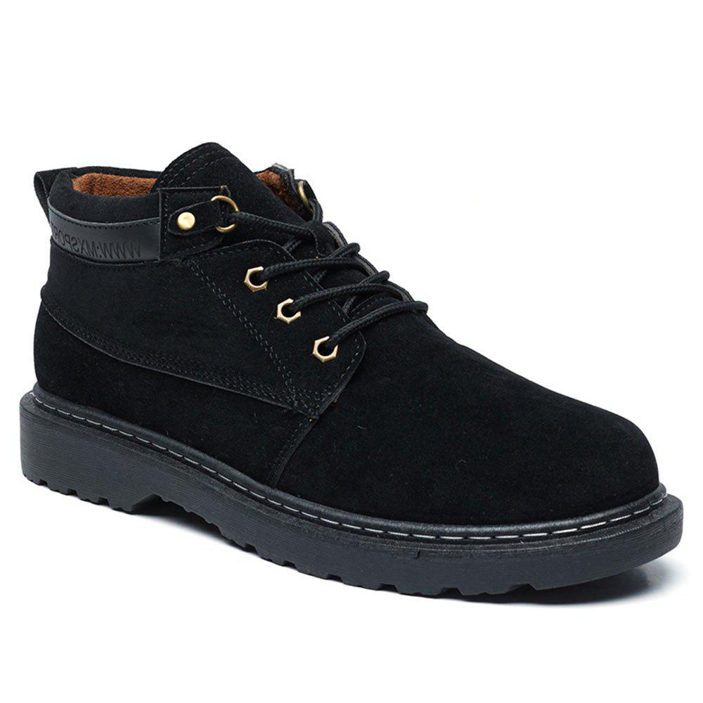 Men Classical Lace Up Outdoor Worker Boots - BLACK 39
