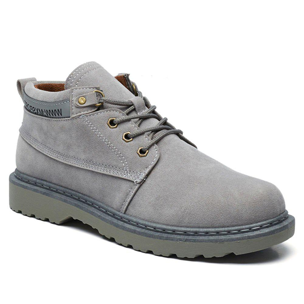 Classical Low Top Lace-up Boots for Men - GRAY 40