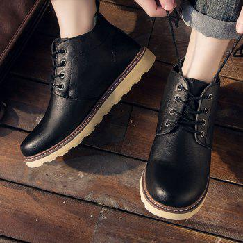 Fashion Worker Martin Boots - BLACK 43