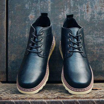 Fashion Worker Martin Boots - BLACK BLACK