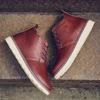 Fashion Worker Martin Boots - RED 44