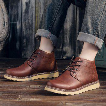 Fashion Worker Martin Boots - RED 39