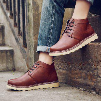 Fashion Worker Martin Boots - RED RED