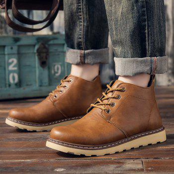 Fashion Worker Martin Boots - YELLOW YELLOW