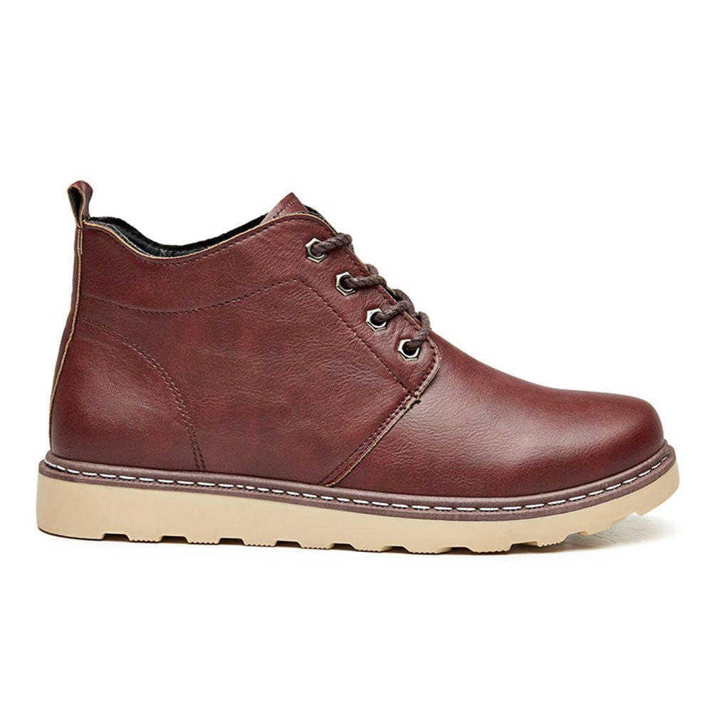 Fashion Worker Martin Boots - RED 42