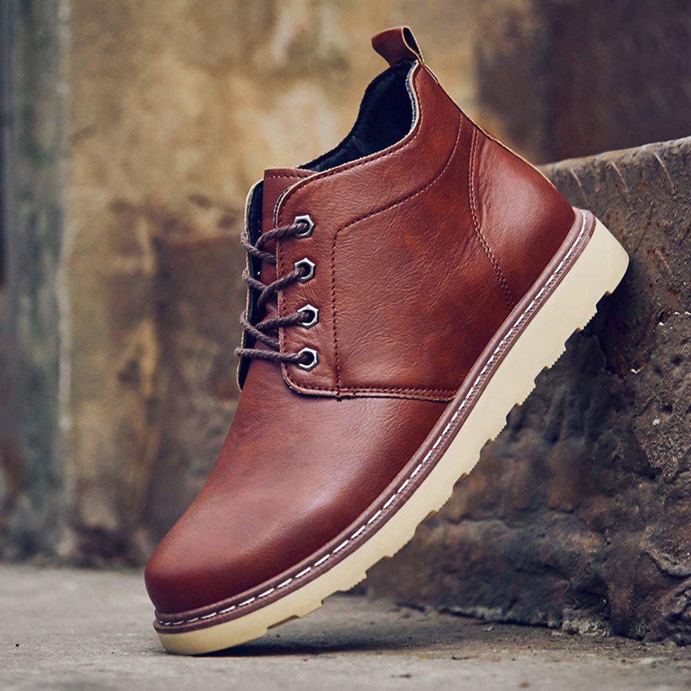 Fashion Worker Martin Boots - RED 40