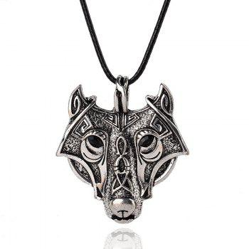 Pendant Norse Vikings Of The Necklace Norse Wolf Head Necklace Jewelry Animal Wolf Head