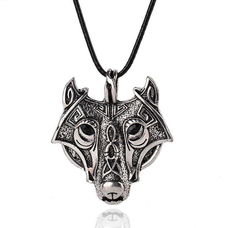 Pendant Norse Vikings Of The Necklace Norse Wolf Head Necklace Jewelry Animal Wolf Head 254292801