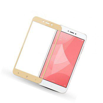 Full Screen Cover Steel Glass Film Gold 5.0 Inches for Xiaomi Redmi 4X - GOLDEN