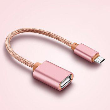 Cable for Micro USB 2.0 V8 OTG Data Host Adapter - ROSE GOLD