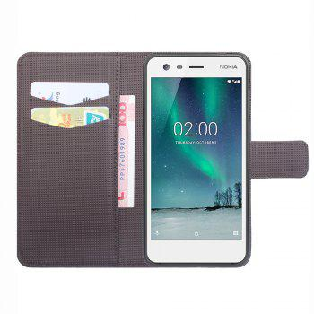 Flip Case for Nokia 2 Phone Wallet Leather MobiLe Phone Holster Case - BLUE