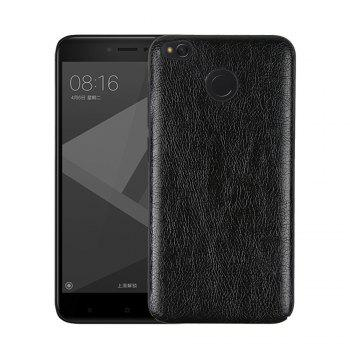 Cover Case for Redmi 4X Following From Crazy Ma Wen Leather Grain + PC - BLACK BLACK