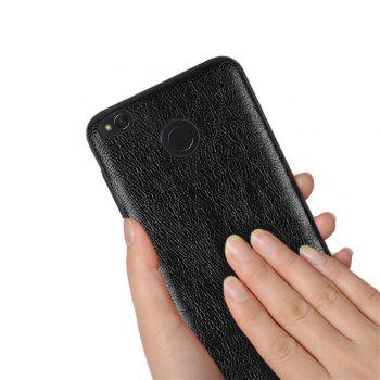 Cover Case for Redmi 4X Following From Crazy Ma Wen Leather Grain + PC - BLACK