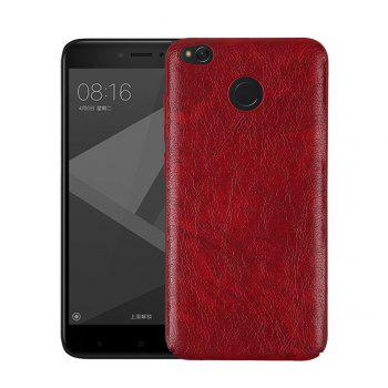 Cover Case for Redmi 4X Following From Crazy Ma Wen Leather Grain + PC - RED RED