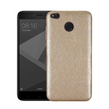 Cover Case for Redmi 4X Following From Crazy Ma Wen Leather Grain + PC - GOLDEN GOLDEN