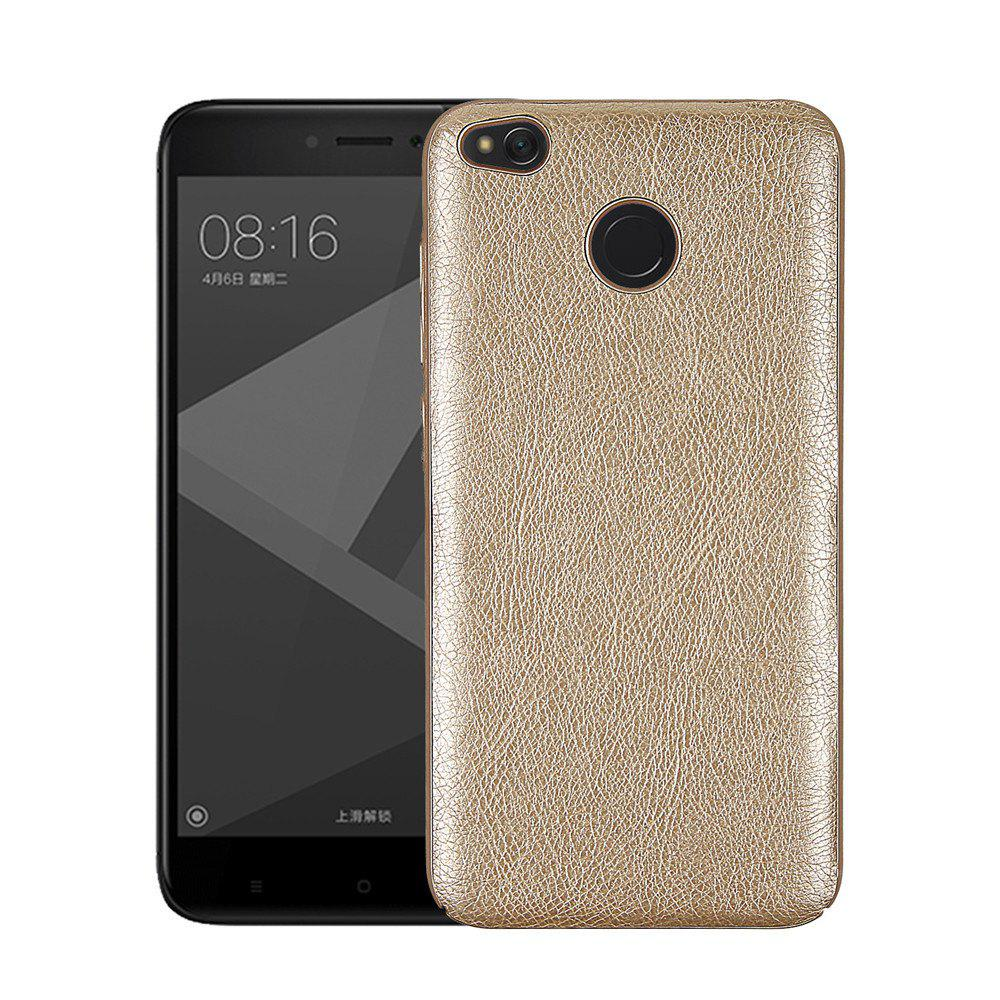 Cover Case for Redmi 4X Following From Crazy Ma Wen Leather Grain + PC - GOLDEN