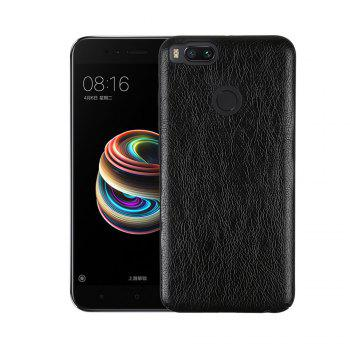 Cover Case for Xiaomi 5X Following From Crazy Ma Wen Leather Grain + PC - BLACK BLACK