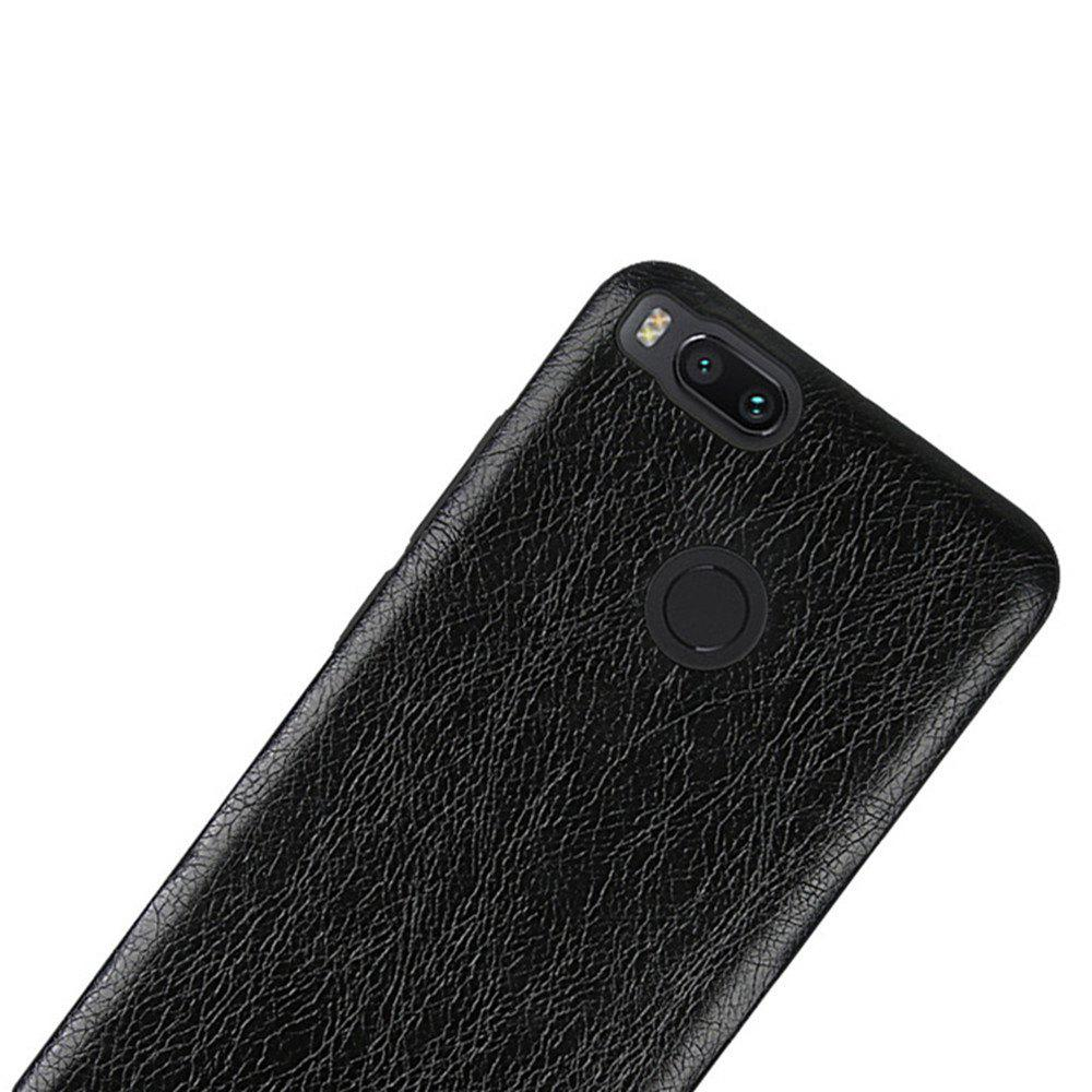 Cover Case for Xiaomi 5X Following From Crazy Ma Wen Leather Grain + PC - BLACK