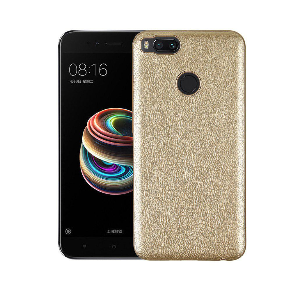Cover Case for Xiaomi 5X Following From Crazy Ma Wen Leather Grain + PC - GOLDEN