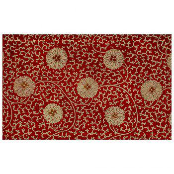 Chinese Antique Embroidered Flower Pattern Carpet Mat - COLORMIX COLORMIX