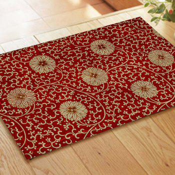 Chinese Antique Embroidered Flower Pattern Carpet Mat - COLORMIX 40CM*60CM