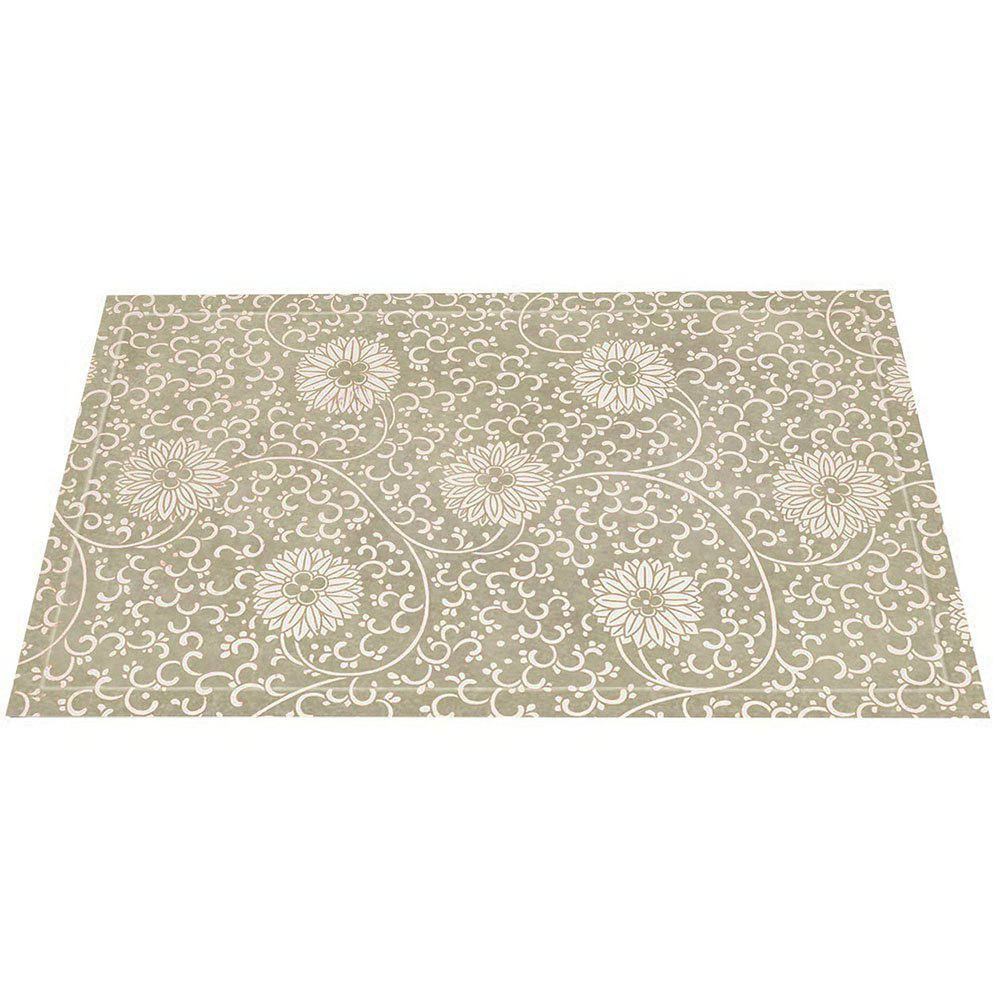 Chinese Antique White Hydrangea Pattern Rug Mats - COLORMIX 40CM*60CM