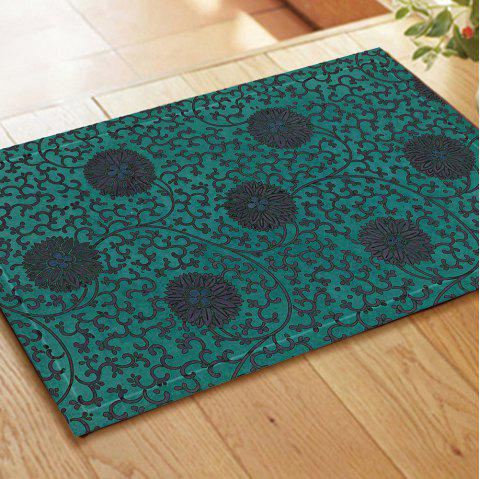 Retro Pattern Chinese Style Embroidered Carpet Mats - COLORMIX 40CM*60CM