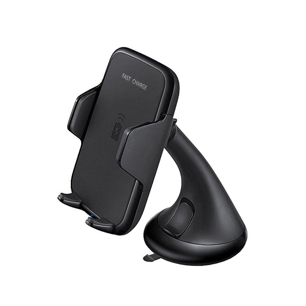 Fast Charger Air Vent Phone Holder Car Mount for Samsung Galaxy S8/S7/ IPhone 8/8+/IPHONE X and All Qi-Enabled Devices - BLACK WIRELESS CHARGER