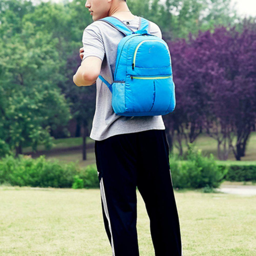 Men's Backpack Brief Large Capacity Multifunctional Outdoor Travel Bag - BLUE