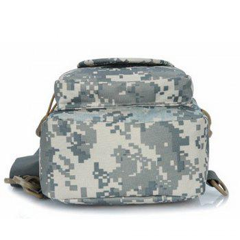 Men's Shoulder PU Zipper Classic Design Travel Bag - CAMOUFLAGE