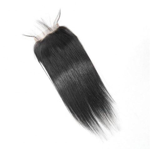 Brazilian Straight Lace Closure  Hair Natural Color - BLACK 16INCH