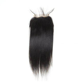 Brazilian Straight Lace Closure  Hair Natural Color - BLACK 12INCH