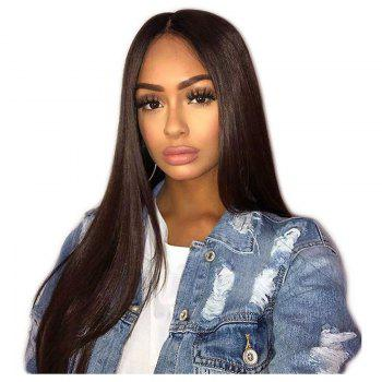 Long Straight Hair Synthetic Lace Front Wigs 180 Percent Density for Fashion Women - DEEP BROWN DEEP BROWN