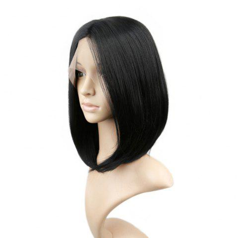 Short Straight Bob Hair Synthetic Lace Front Wigs for Beauty Girl 10 inch 12 inch 14 inch - NATURAL BLACK 12INCH