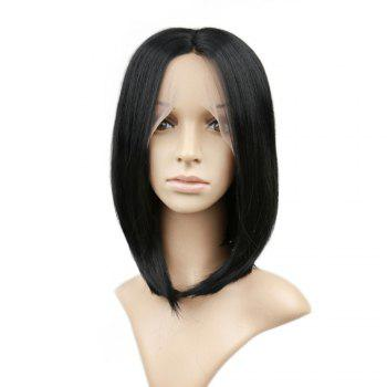 Short Straight Bob Hair Synthetic Lace Front Wigs for Beauty Girl 10 inch 12 inch 14 inch - NATURAL BLACK NATURAL BLACK
