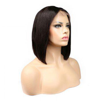 Short Straight Bob Hair Synthetic Lace Front Wigs for Beauty Girl 10 inch 12 inch 14 inch - DEEP BROWN DEEP BROWN