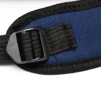 New Style Double Shoulder Canvas Upright Style Sport Zipper Student Backpack -  DEEP BLUE