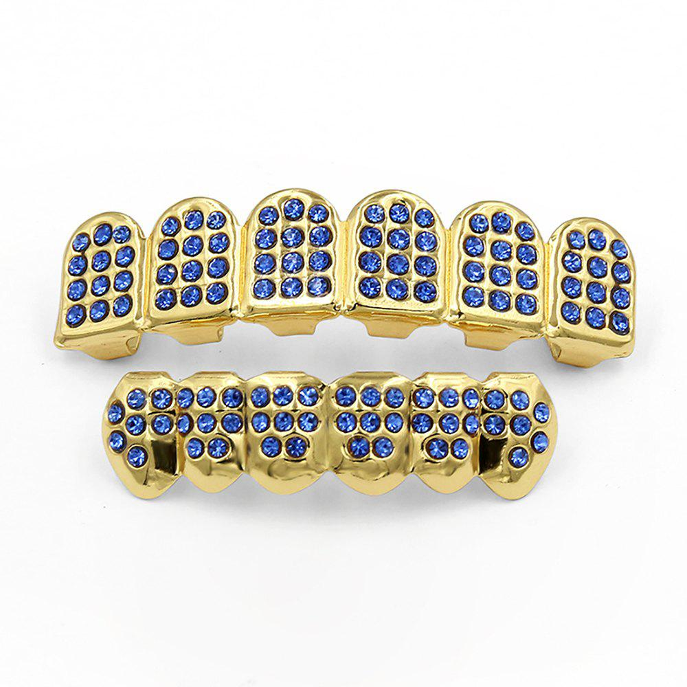 Hip Hop 18K Gold Plated Gold Classic Grillz - BLUE