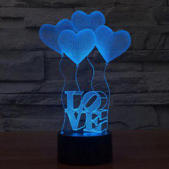 Valentine's Days' Lamp For Room Decorative - COLOUR