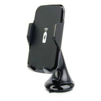 Wireless Car Fast Charger Holder for iPhone and Android - BLACK