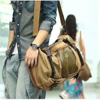 1Pc Canvas Mountaineering Backpack Sports and Casual Bags Travel Bag -  KHAKI