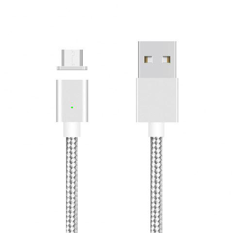 UNIVEL SyncNova Magnetic Micro USB Cable with Charging Indicator - SILVER